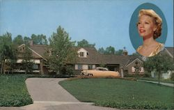 Residence of Dinah Shore Postcard