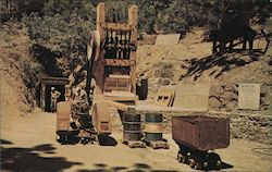Stamp Mill, Adit and Amalgamation Plant Eagle Gold Mine Postcard