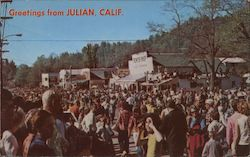 Greetings from Julian, Calif Postcard