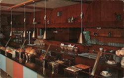 Kim's Family Restaurant view of buffet Postcard