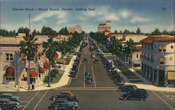 Lincoln Road looking East Postcard