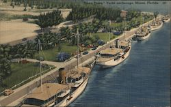Downtown Yacht anchorage Postcard