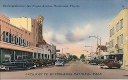 Business District, No. Krome Avenue Postcard