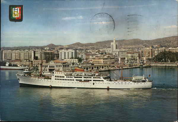 Partial View of the Harbour Malaga Spain