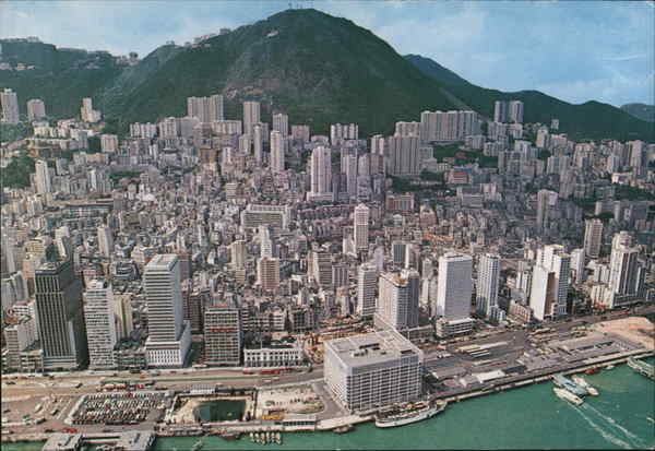 Bird's eye view of whole of Hong Kong's Central District China