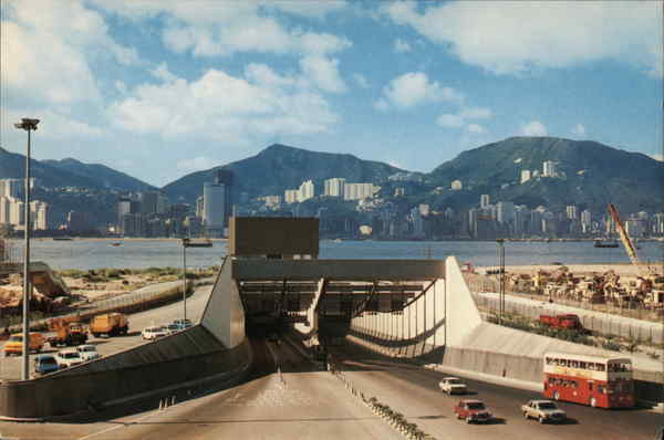 Harbour Tunnel to Kowloon Hong Kong China