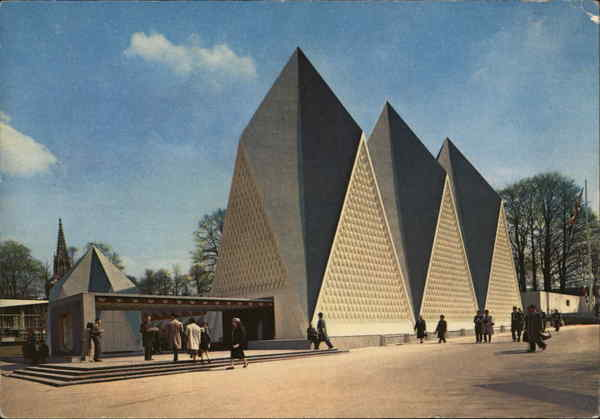 Brussels World's Fair (Expo 58) - The Pavilion of Great Britain Belgium