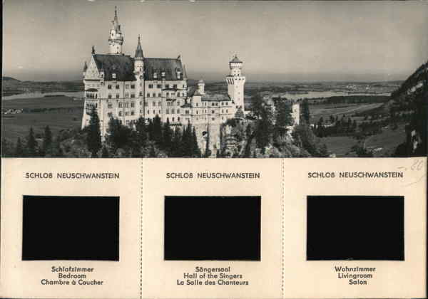 35mm Slide Postcard SCHLOB NEUSCHWANSTEIN Germany