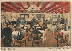 Americain Bar and Grill, Hotel Eden Postcard