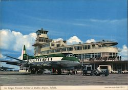 Aer Lingus Viscount Airliner at Airport Postcard