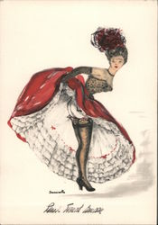 French Cabaret Dancer Postcard