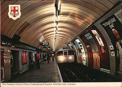 The Famous Oxford Circus Underground Station Victoria Line, London Postcard