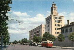 Telegraph and Telephone building. Postcard