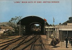 """Lowu"" Main Thoroughfare on Sino-British Border Postcard"