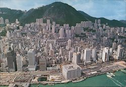 Bird's eye view of whole of Hong Kong's Central District Postcard
