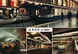 LE R.E.R. A PARIS Postcard