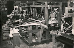 Weavers Weaving a cloth in a handloom Postcard