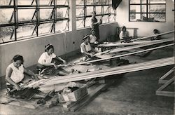 Women Weaving with Backstrap Looms Postcard