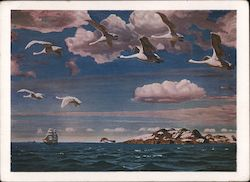 Migration of Swans, Arkadij Aleksandrovic Rylov Postcard