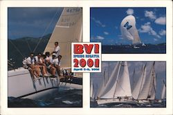 BVI SPRING REGATTA 2001 April 5-8 2001 Postcard