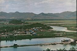 The Shumchun River viewed from a hill at Lukmachow Postcard