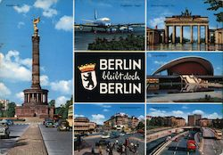 Six sights from Berlin Postcard