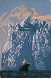 """Holland America to Alaska"" - Surreal Painting by Wilson McLean Postcard"