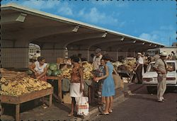 Aruba's Colorful Public Market at Waterfront.