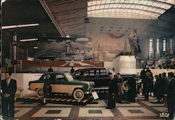 Cars in the Pavilion of U.S.S.R.- Brussels International Exposition Postcard
