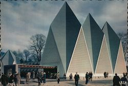 United Kingdom Government Pavillon, Brussels World's Fair Postcard