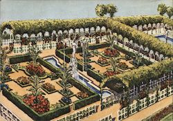 Bruxelles World Exposition 1958: Four Seasons Garden Postcard