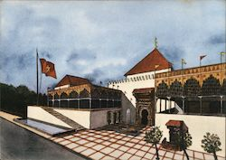 Brussels World's Fair (Expo 58) - Moroccan Pavilion Postcard
