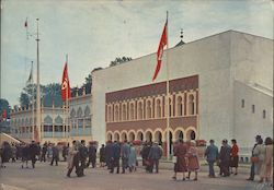 Pavillons of Tunisia and Morocco, Exposition Universelle de Bruxelles 1958 Postcard
