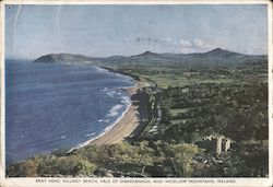 Bray Head, Killiney Beach, Vale of Shanganagh and Wicklow Mountains Postcard