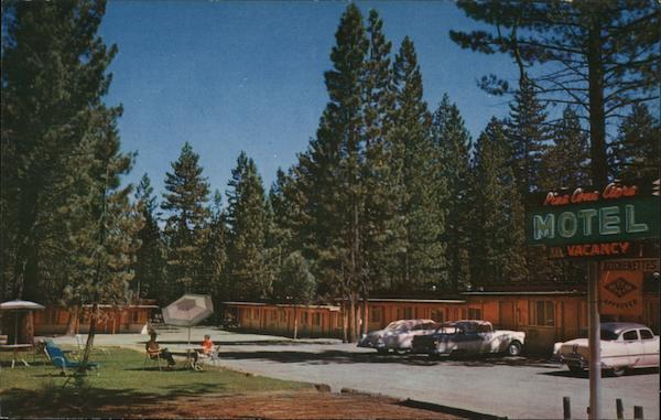 Pine Cone Acre Motel Tahoe Valley, CA Postcard