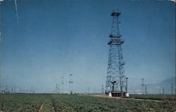 One of Kern County's More than 50 Oil Fields Postcard