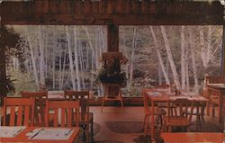 Garden Dining Room, River Inn Postcard