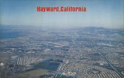 Aerial of Hayward with Oakland and Berkeley in the background Postcard