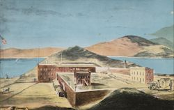 San Quentin Prison, Shortly After its Inception in 1852 Postcard
