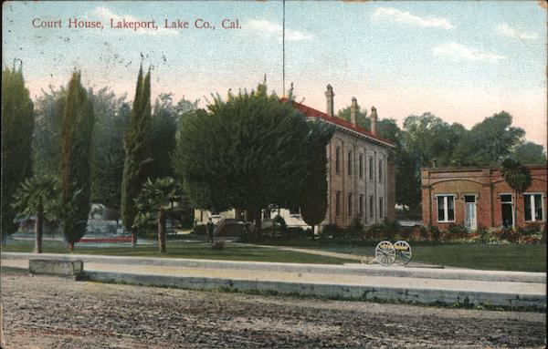 Court House, Lake Co. Lakeport California