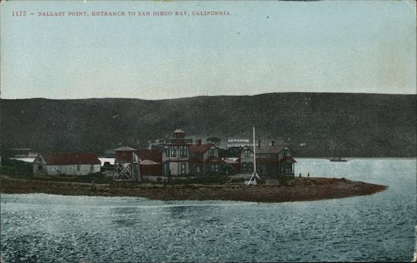 Ballast Point, entrance to San Diego Bay California