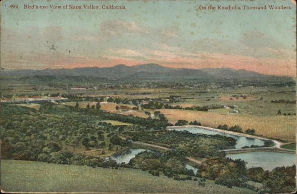 Bird's Eye View of Napa Valley, On the Road of a Thousand Wonders California