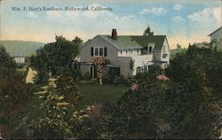 William S. Hart Residence Postcard