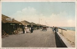 Palm Cottages and Ocean Boulevard, Coronado Tent City Postcard