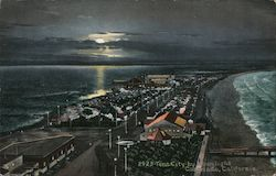 Tent City By Moonlight Postcard