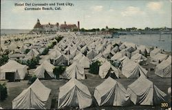 Hotel Del Coronado and Tent City Postcard