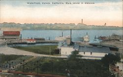 Waterfront, Mare Island in Distance Postcard