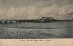 Bay Farm Island Bridge Postcard