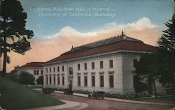 California Hall, Boalt Hall in Distance, University of California Postcard