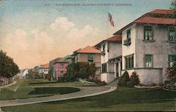2171 - Fraternity Row Stanford University California Postcard